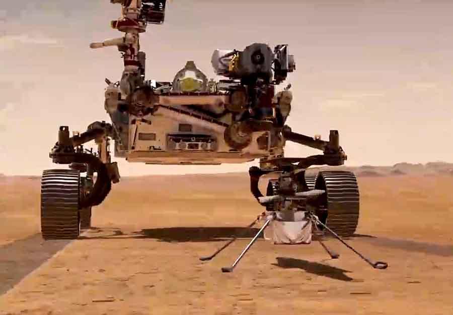 Видео взлета Ingenuity на Марсе
