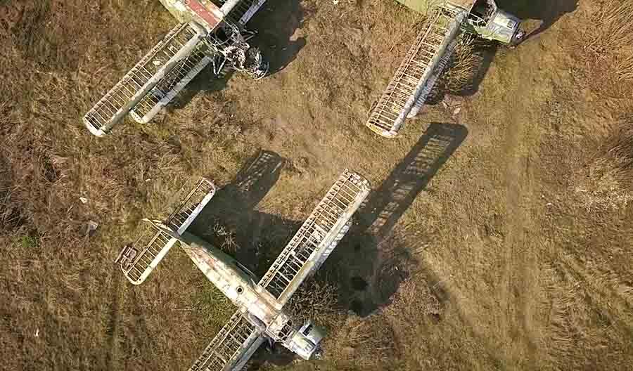 Волчанский аэродром — вид сверху: видео