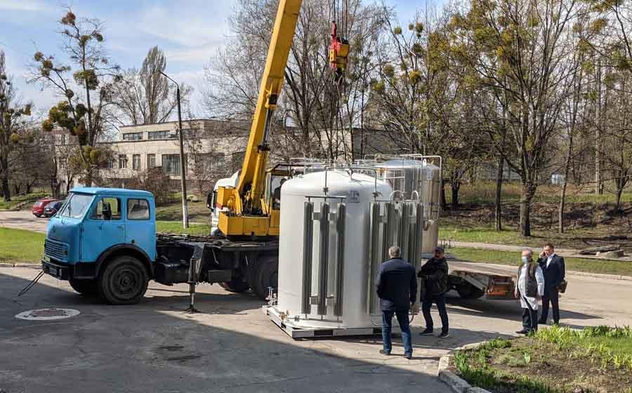 В Харькове — плюс 4 кислородные бочки