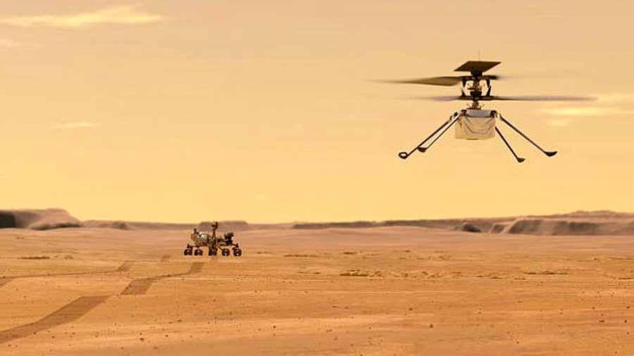 На Марсе взлетел вертолет