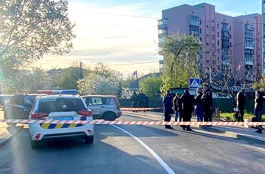 Наезд на полицейского в Вишневом: видео
