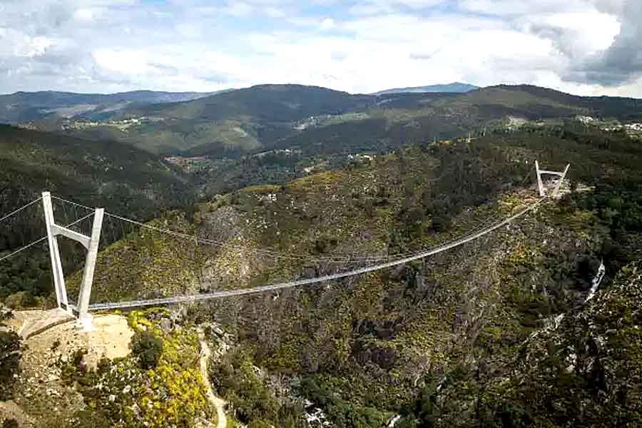 Построен самый длинный подвесной мост в мире