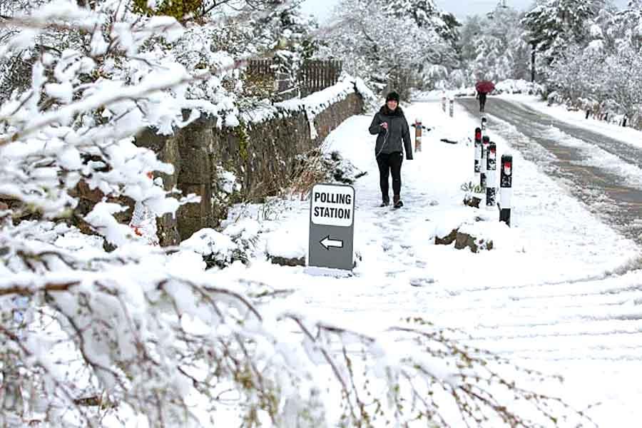 Майский снег накрыл Шотландию