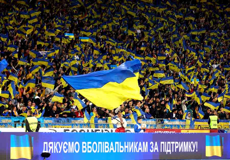 Лозунг украинской сборной по футболу: Слава Украине!