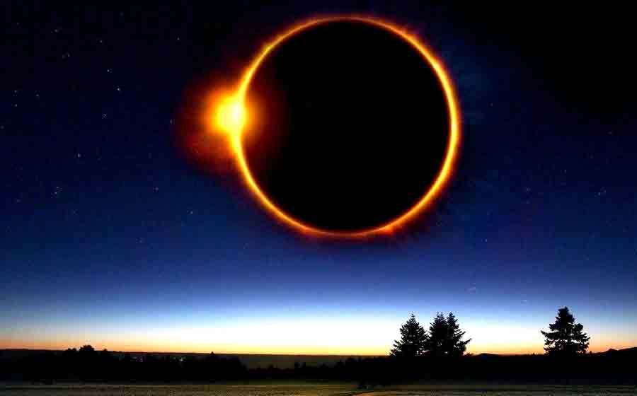 Уникальное солнечное затмение