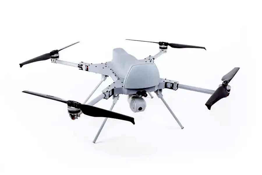Первая атака дрона на человека