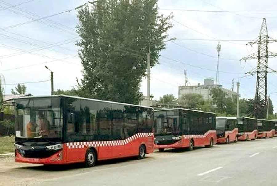 Новые автобусы обкатывают маршруты