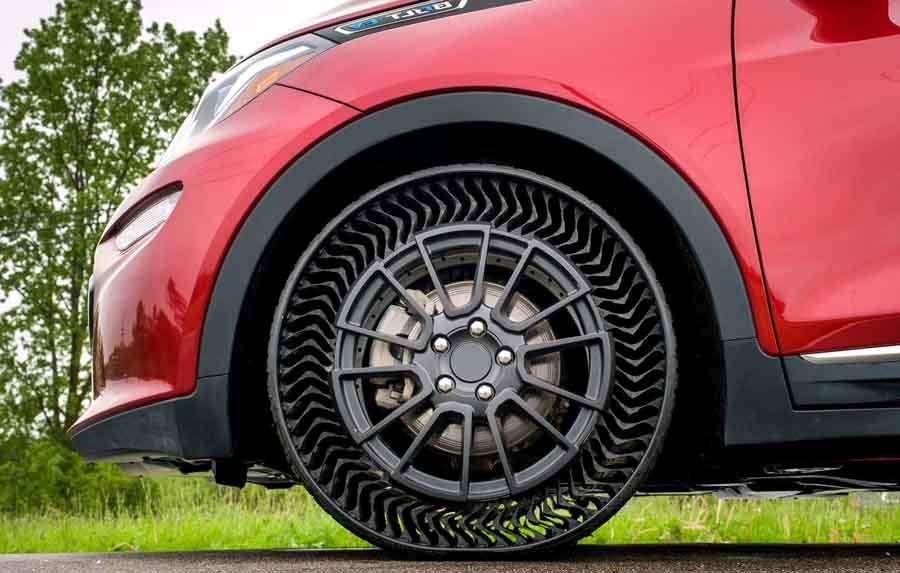 Представлены безвоздушные шины для автомобилей