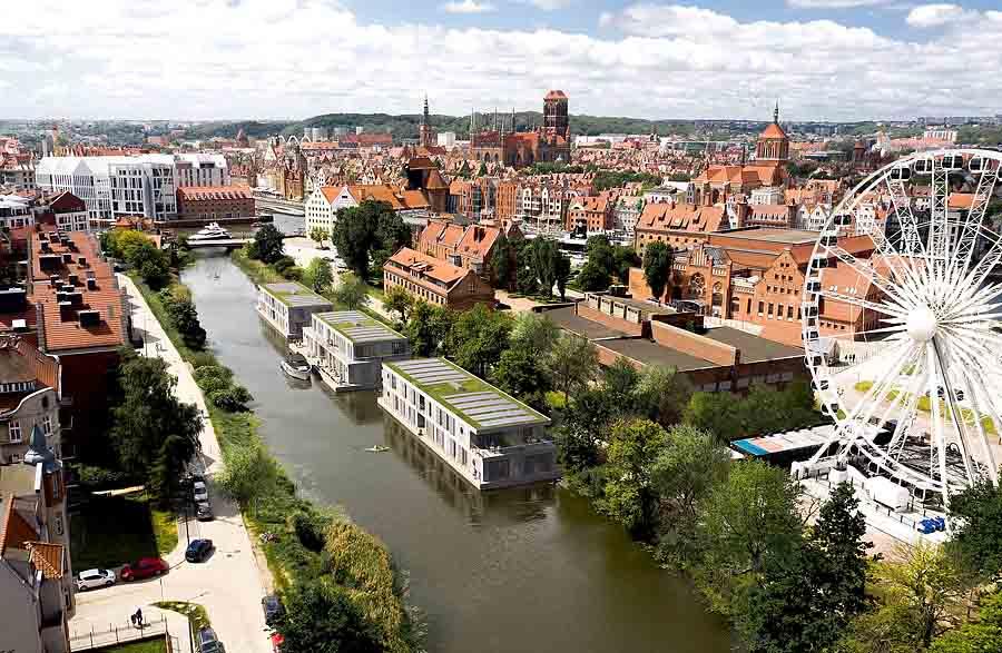 Строится первая польская гостиница на воде